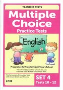 Multiple Choice Practice Transfer Test in English Set 4 Tests 10-12 by Pat Quinn